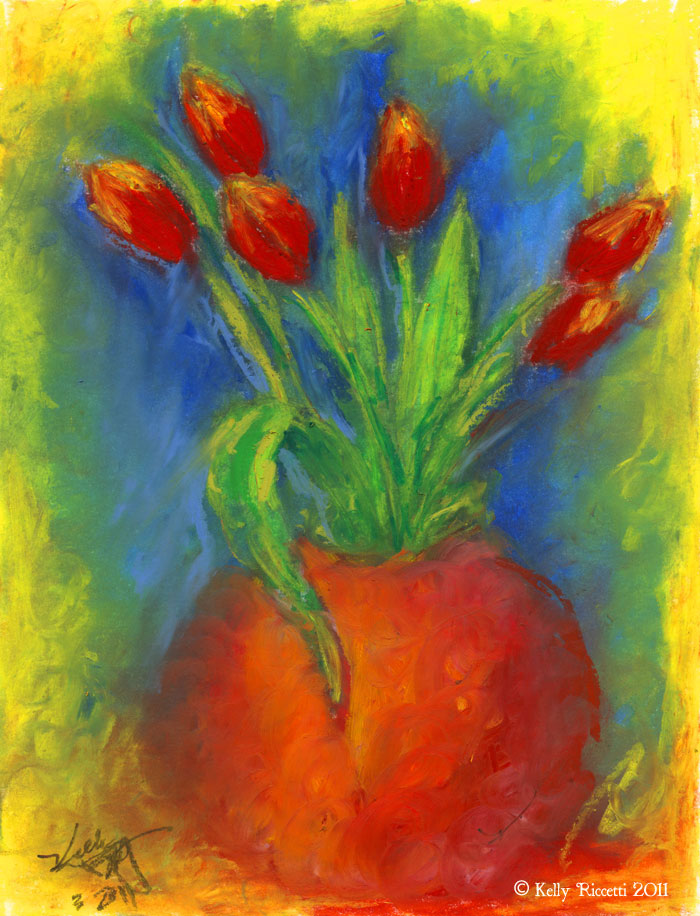 Oil Pastels Paintings
