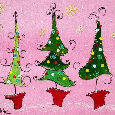 Whimsical Christmas Paintings