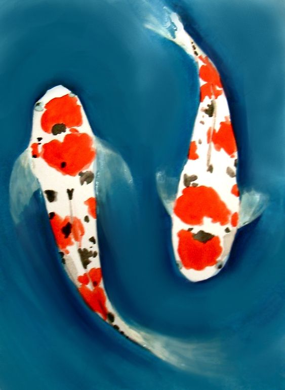 Japanese koi paintings for Japanese koi carp paintings