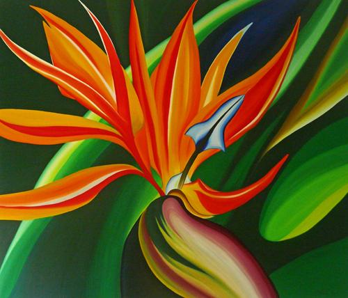 Tropical Flower paintings