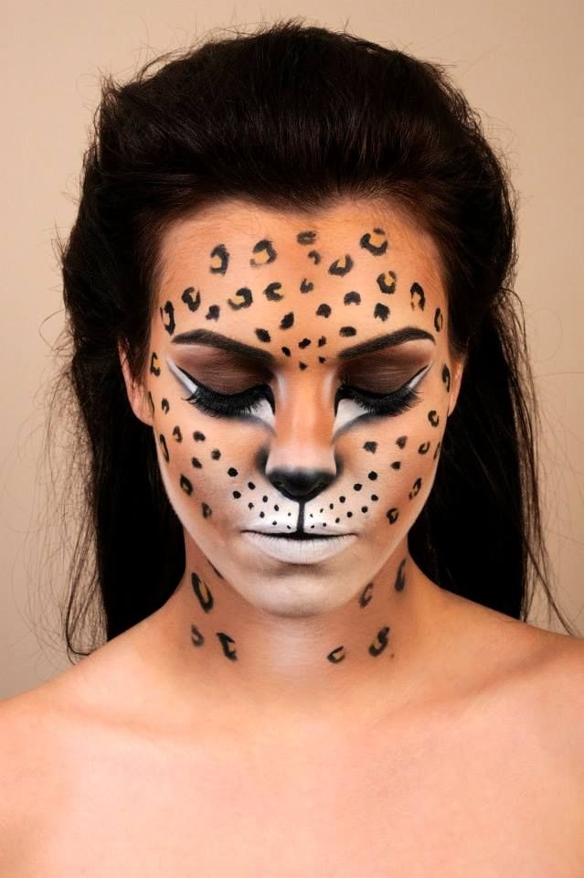 Leopard Face Paintings