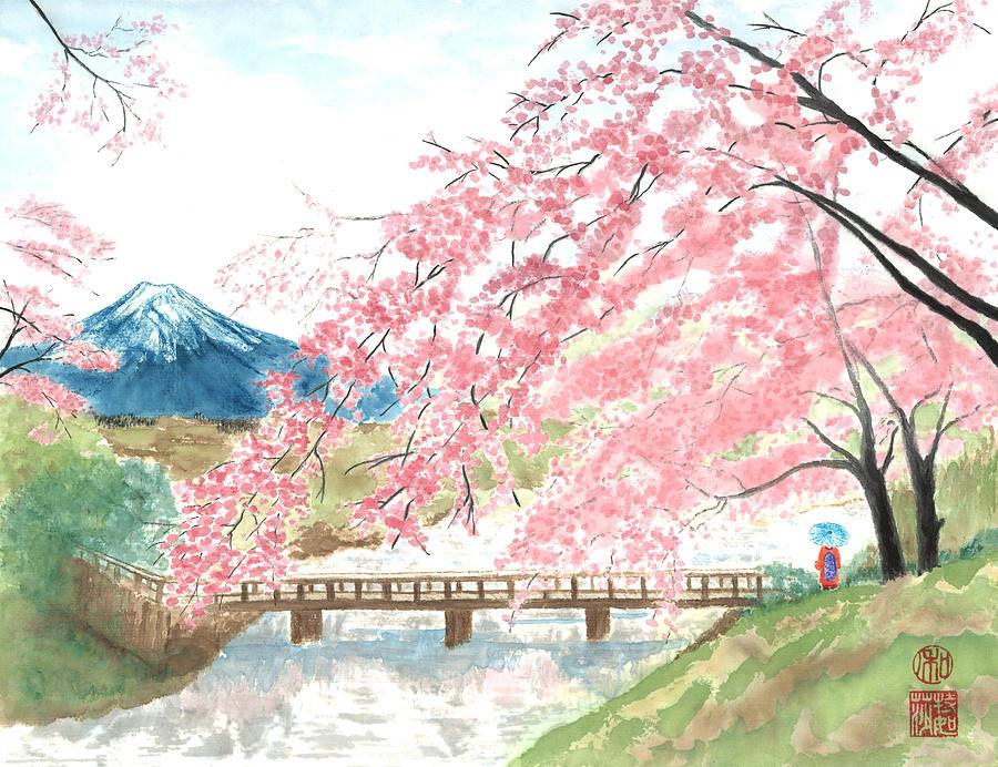 Japanese Garden Drawing Illustrations