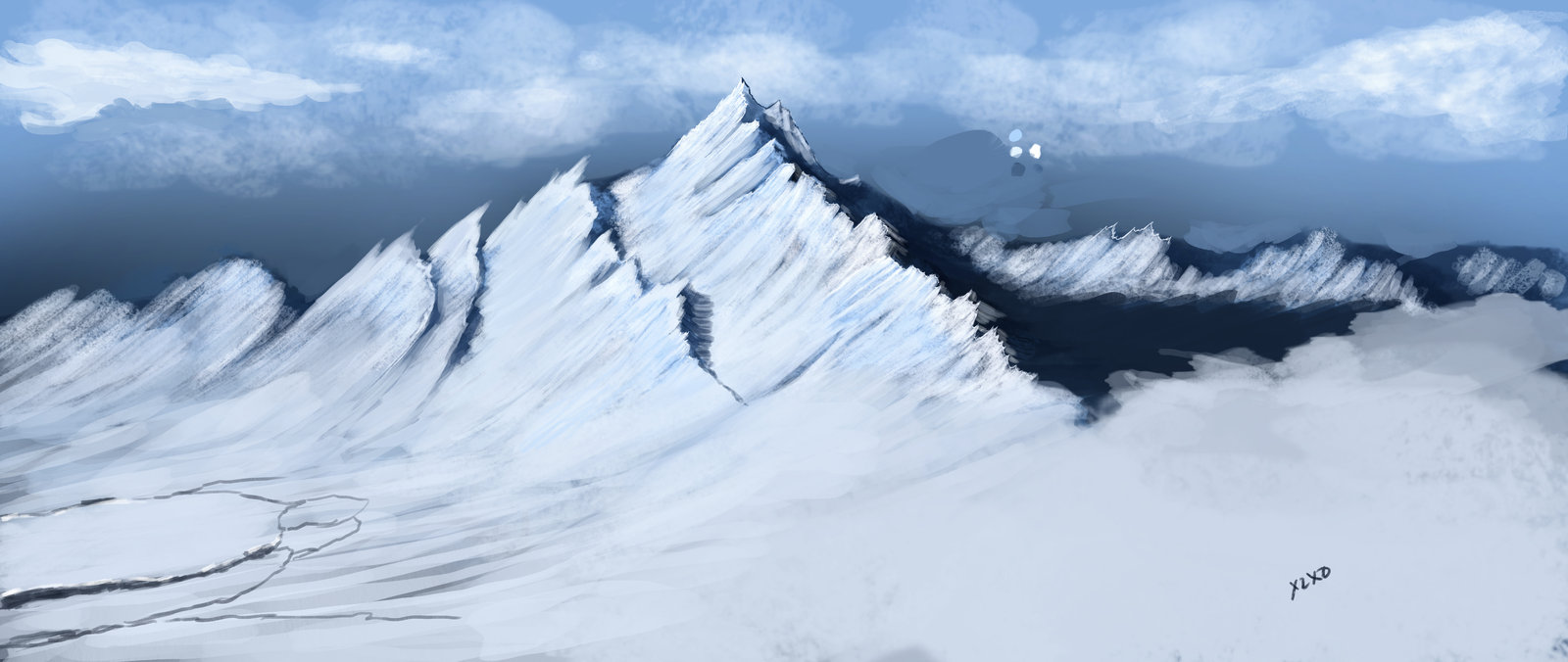 Snowy Mountain Paintings