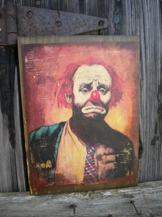 Sad Clown paintings