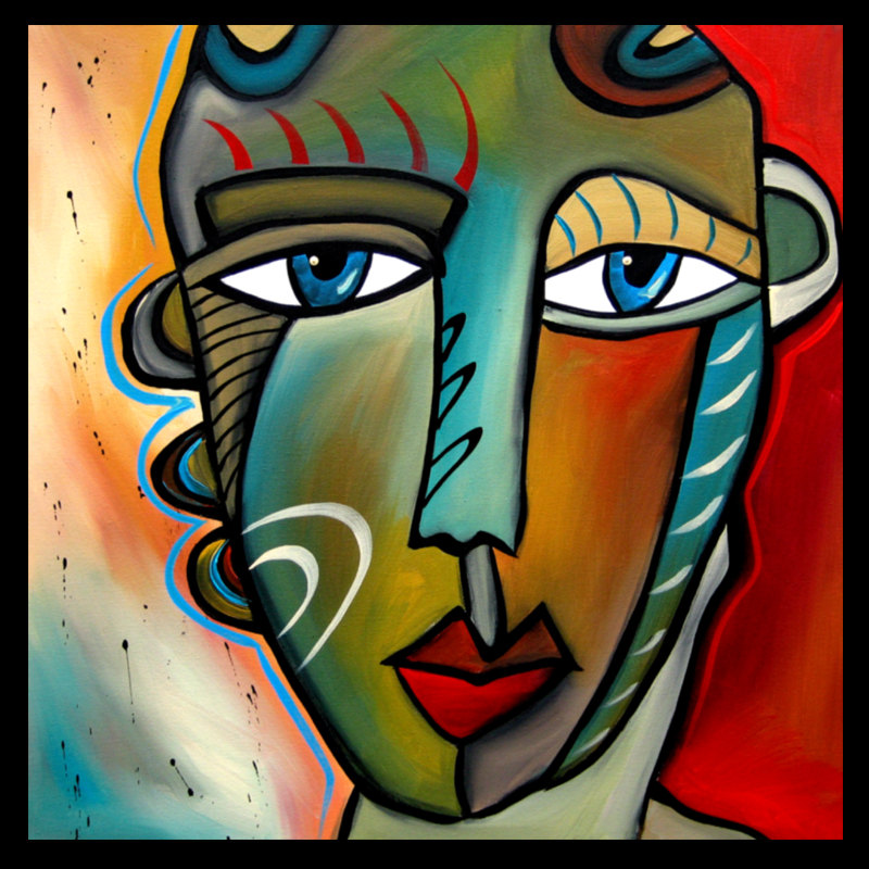abstract faces paintings