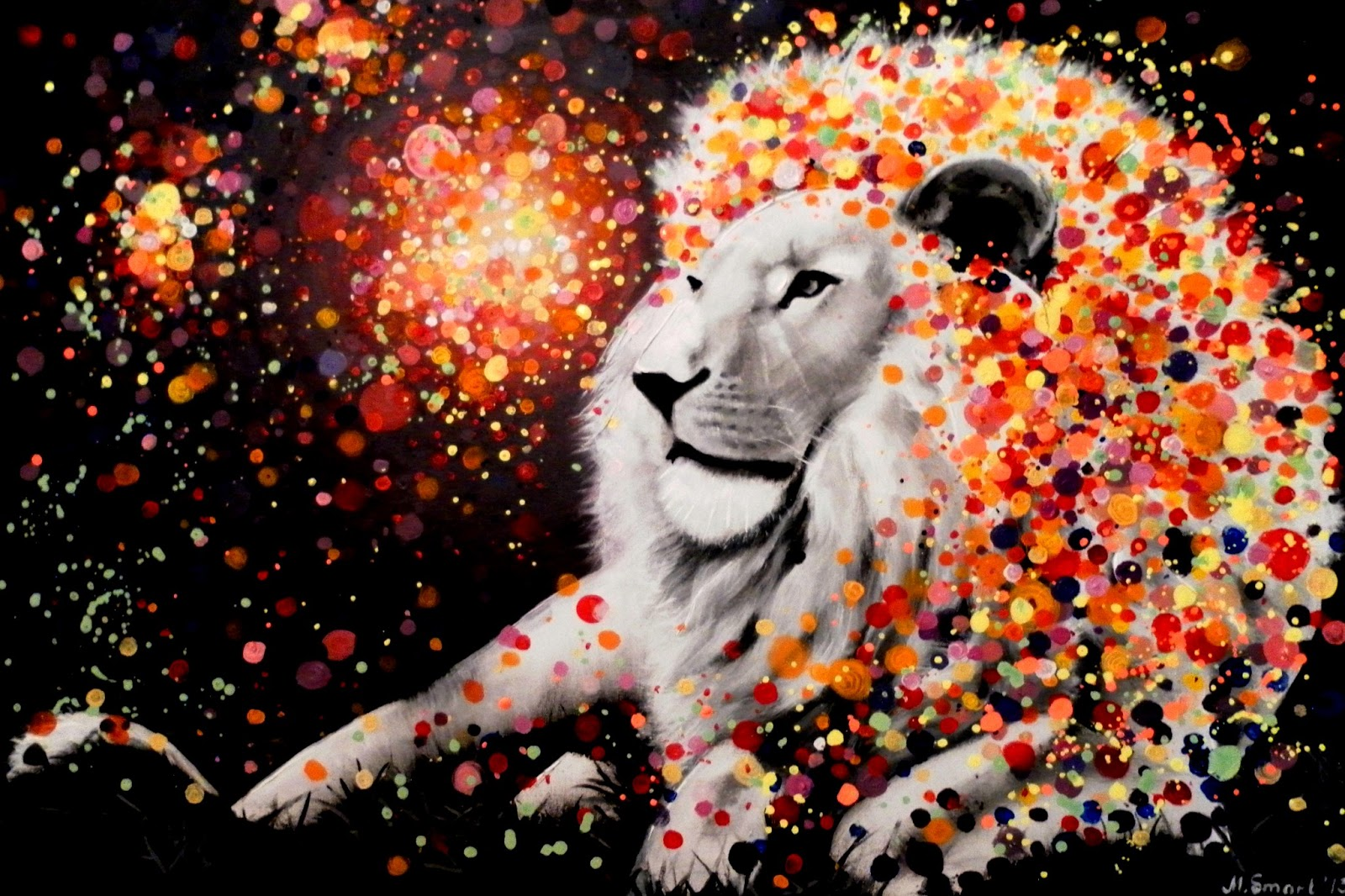 Abstract Lion Paintings