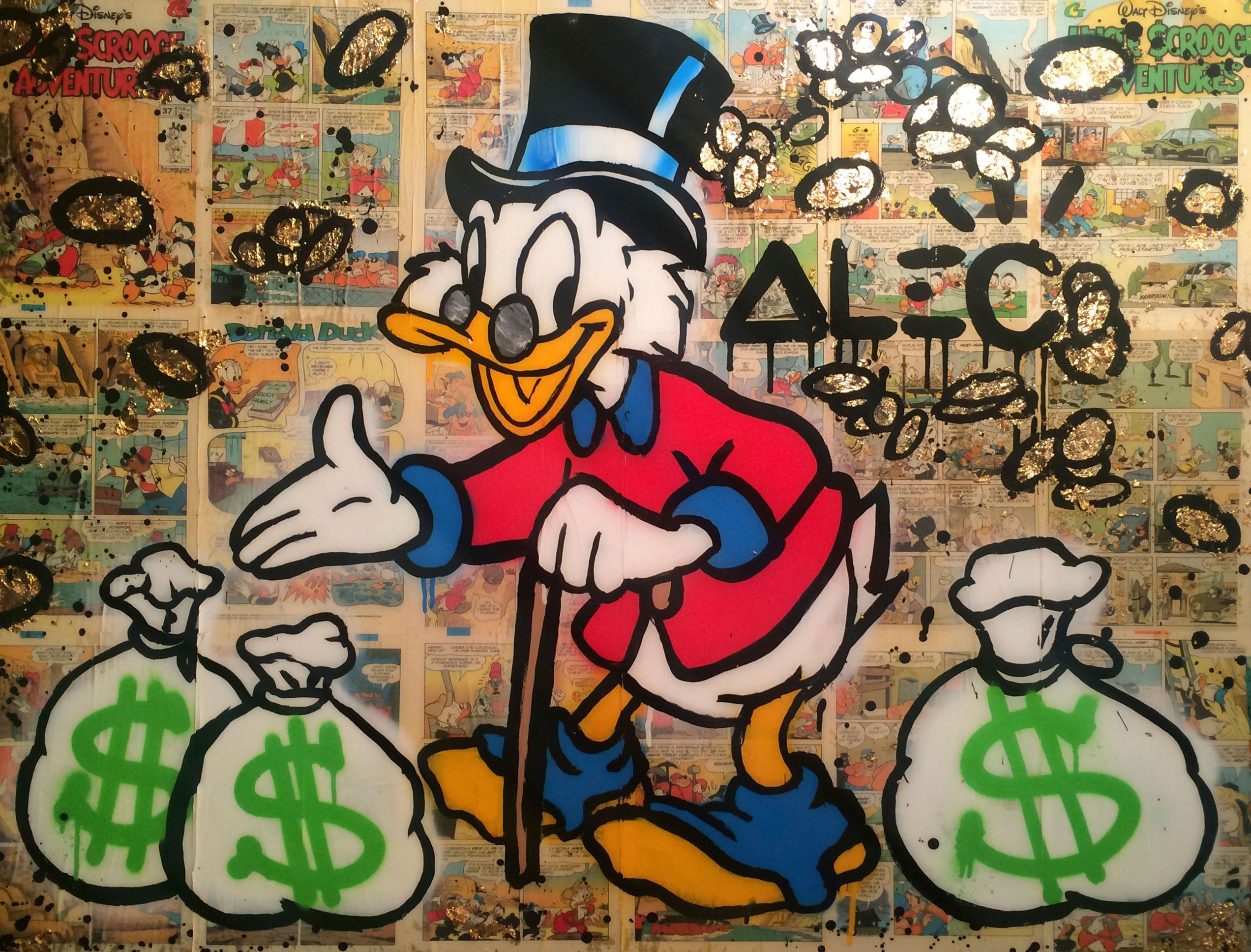 alec money graffiti monopoly DAFFY DUCK street art PRINT  A0 POSTER PAPER