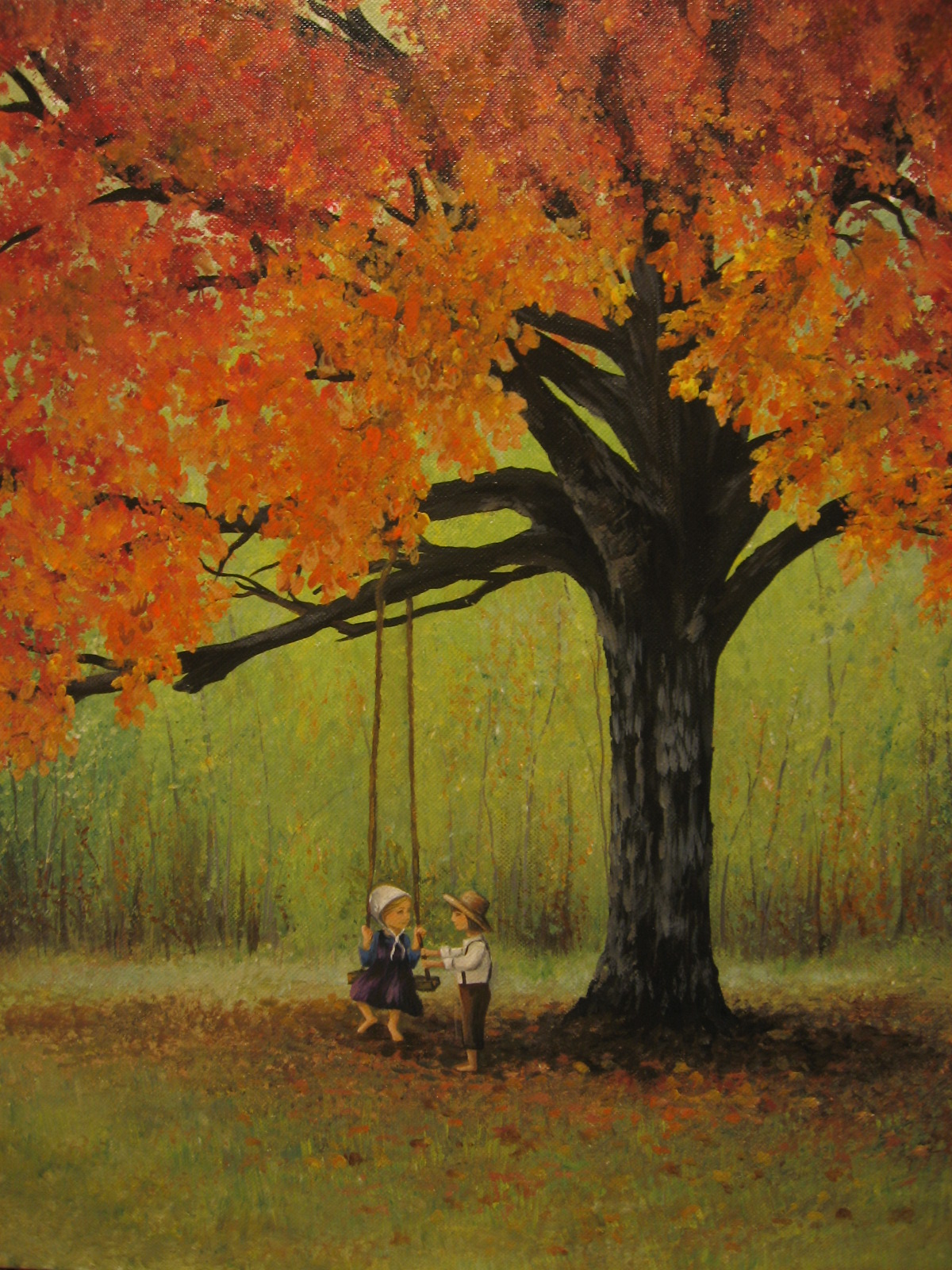 H And H Tire >> Tree Swing paintings