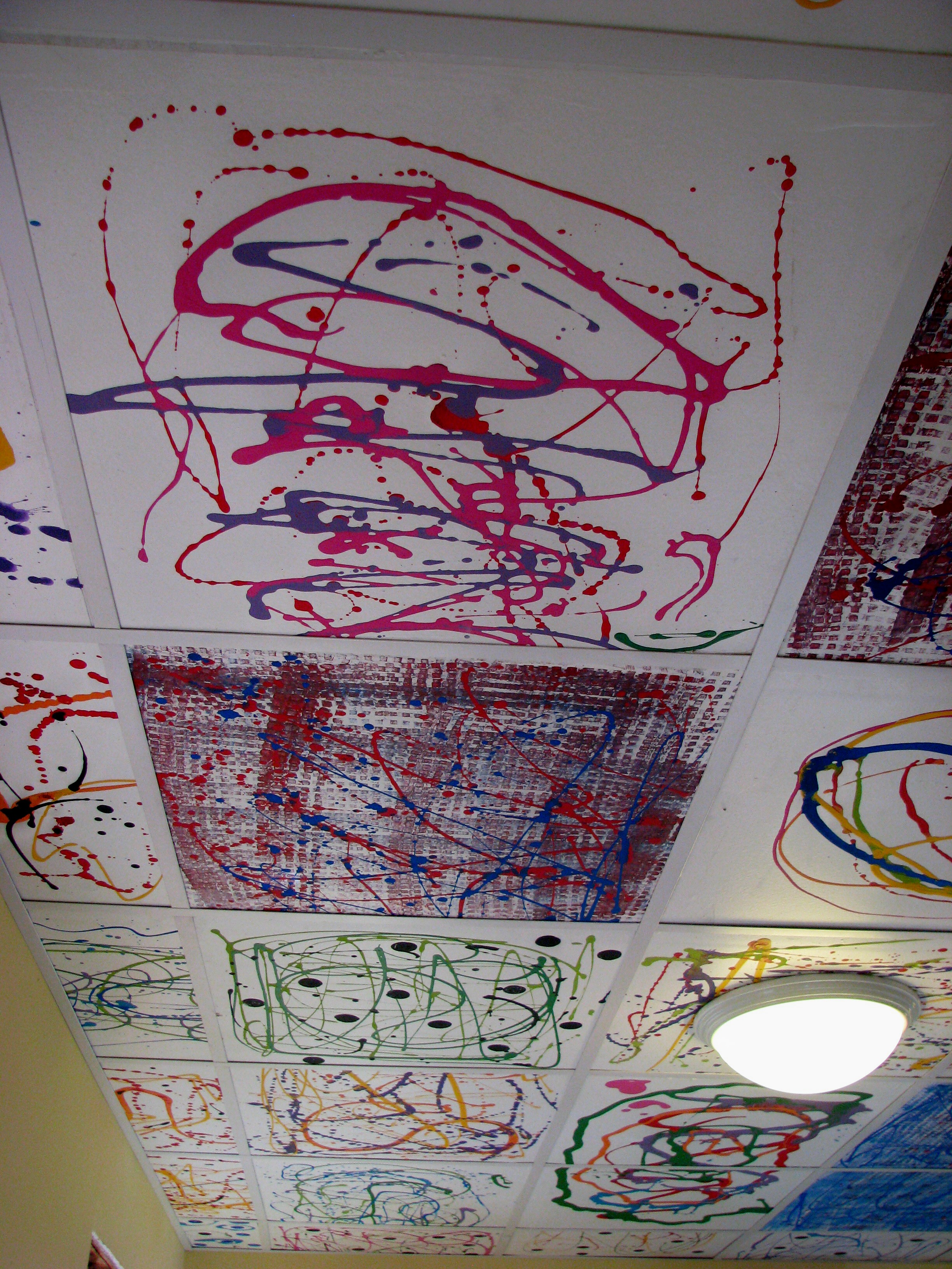 Ceiling tile art ideas theteenline ceiling tile art ideas columbialabels info dailygadgetfo Images