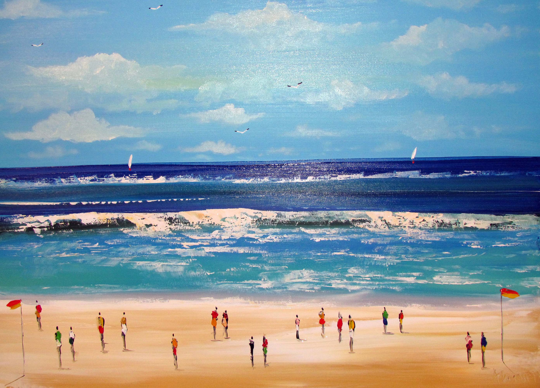 acrylic beach paintings