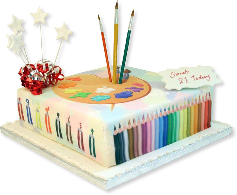 картинка с днем рождения художнице