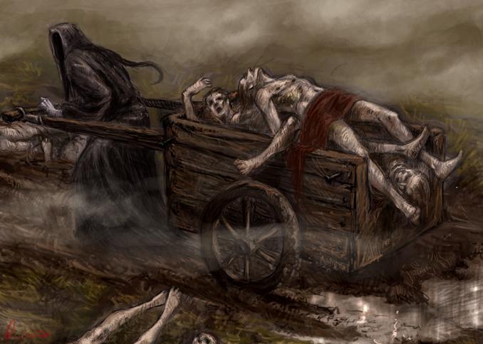 black plague paintings