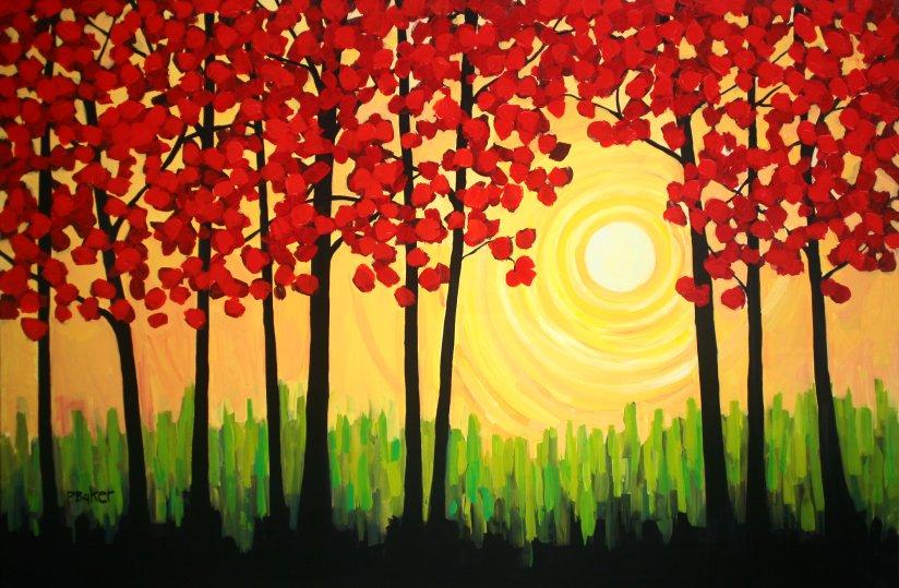 Simple Acrylic Paintings