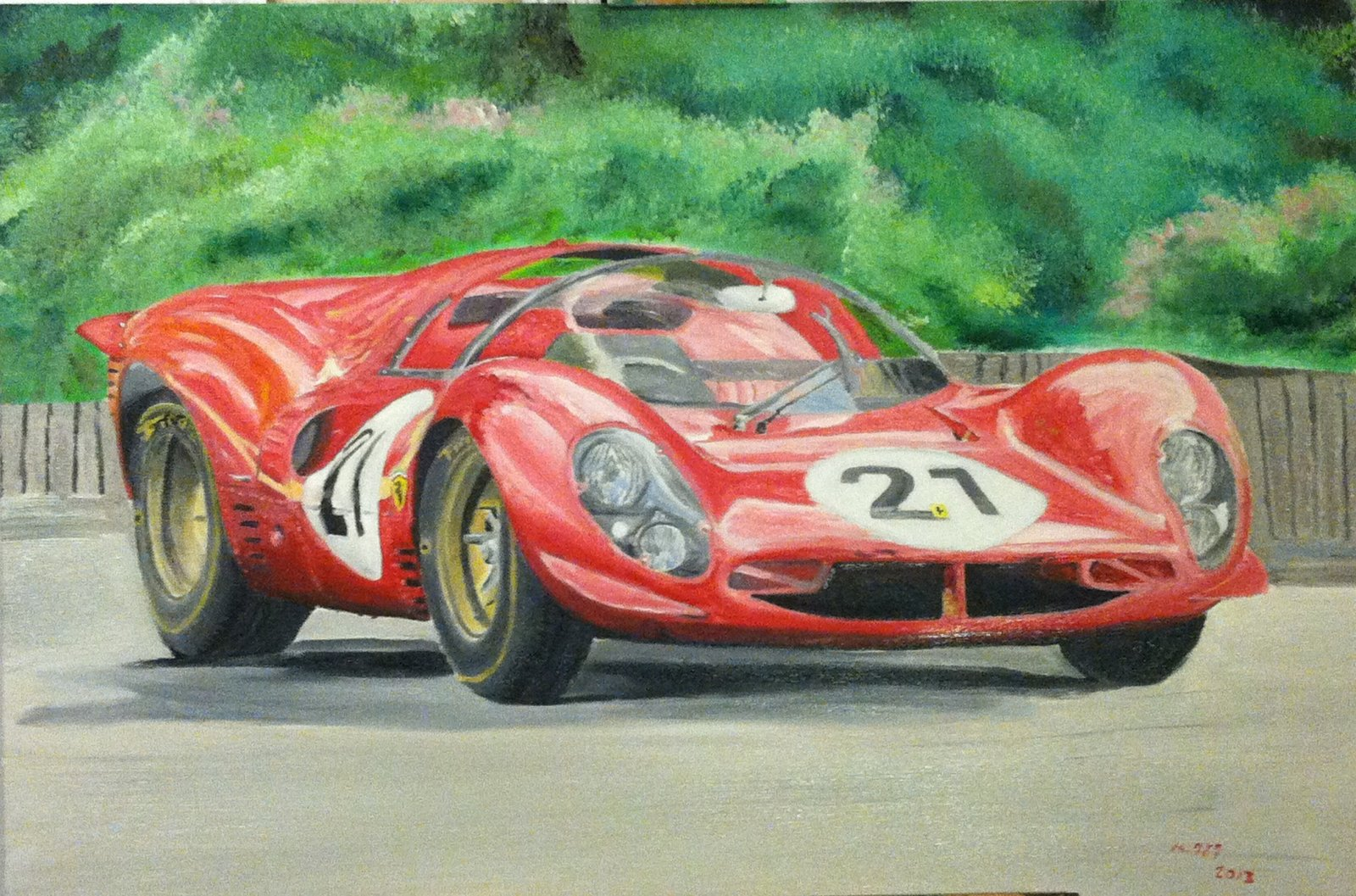 Race Car Paintings