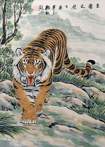 Asian Tiger paintings | 357 x 500 jpeg 99kB