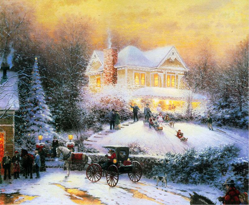 Christmas Landscape Paintings
