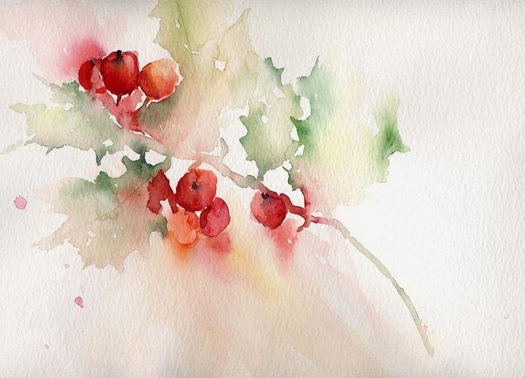 Watercolor Christmas paintings