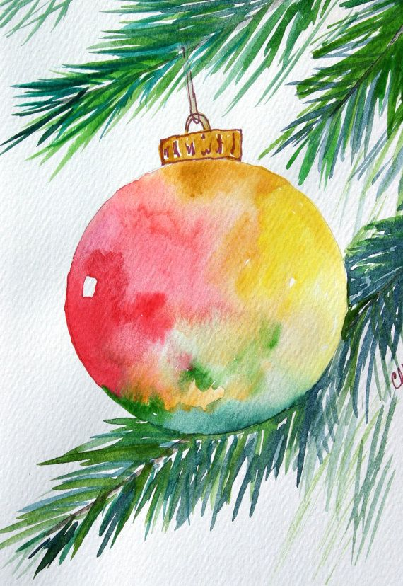 christmas watercolor paintings