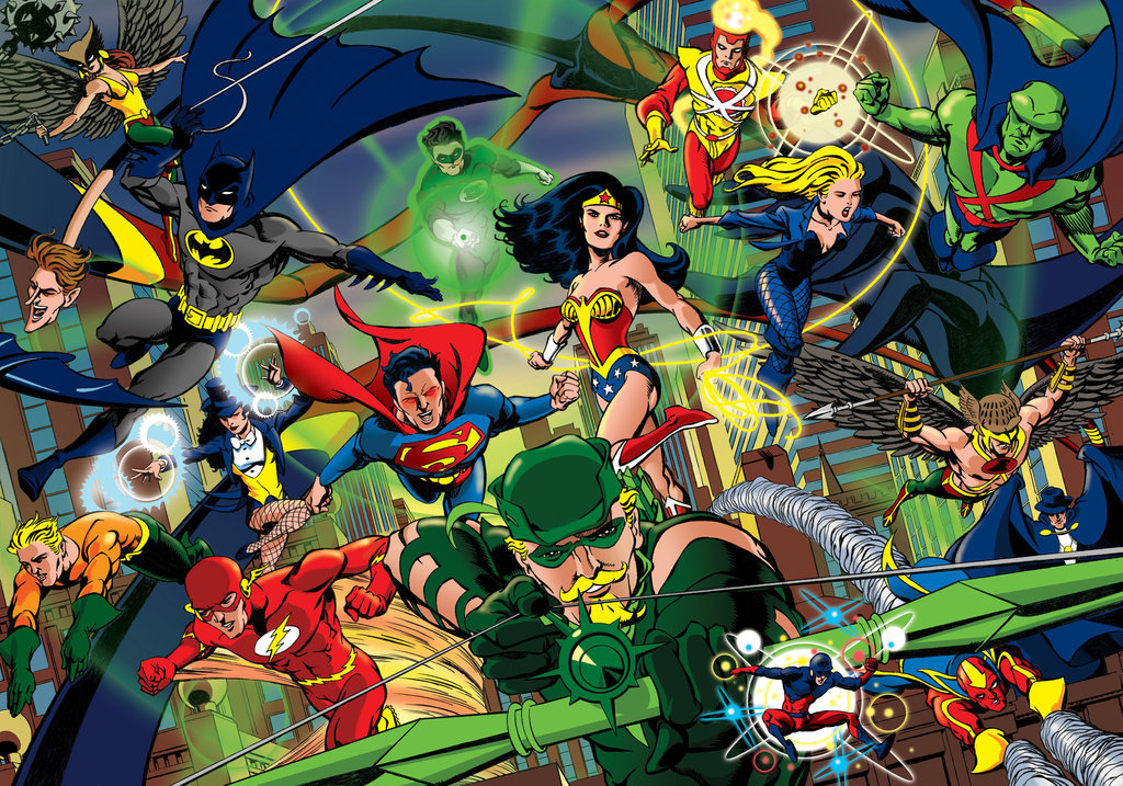 Justice League paintings
