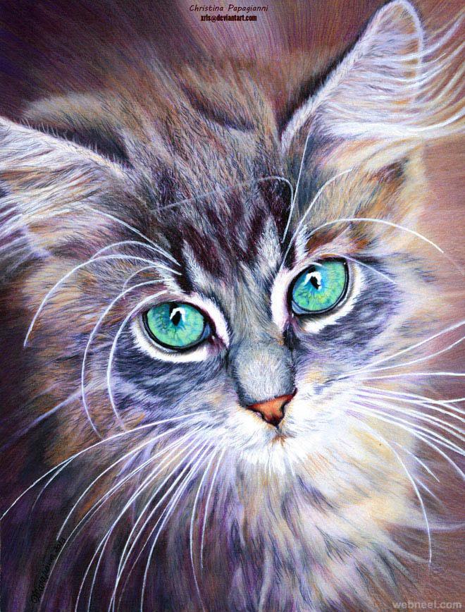 Beautiful Cat Paintings