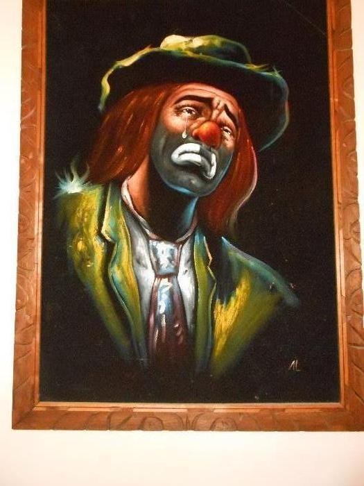 Crying Clown paintings