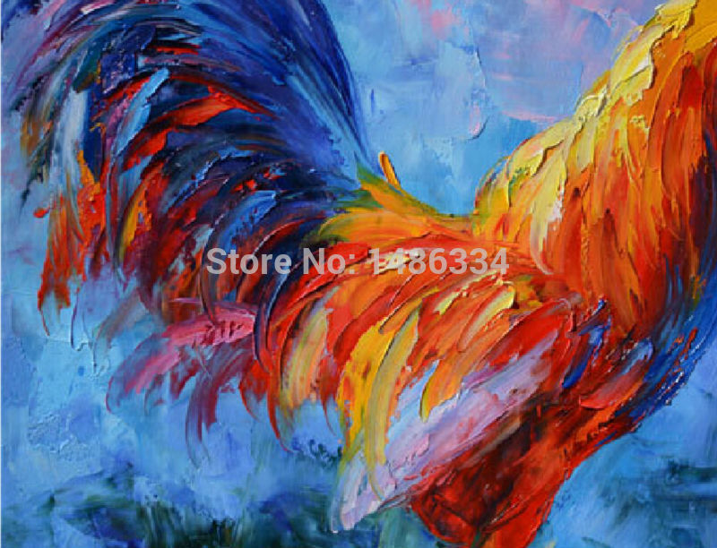 Abstract Rooster Paintings