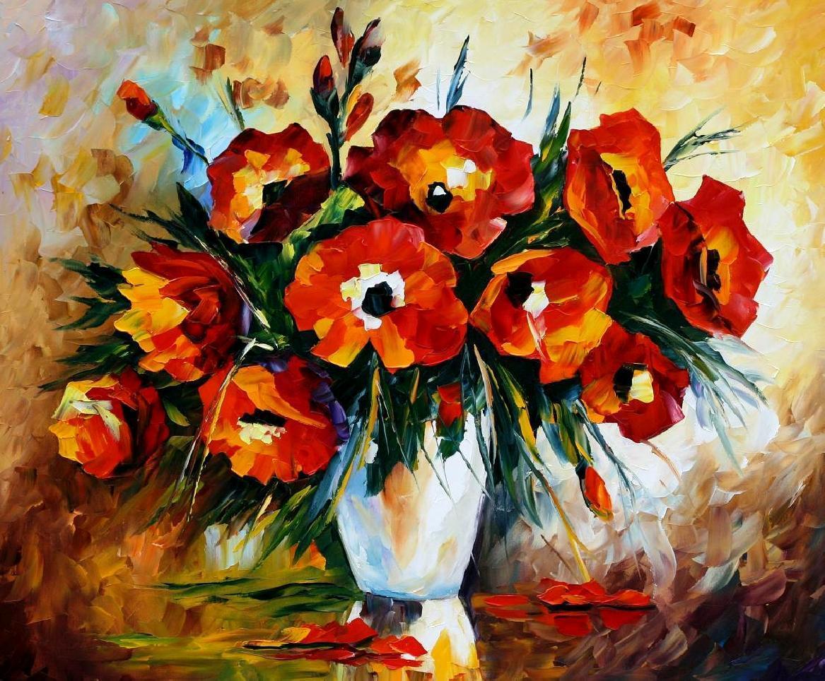 Flowers oil paintings mightylinksfo