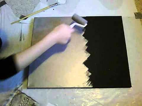 Do a paintings for Acrylic painting on black background