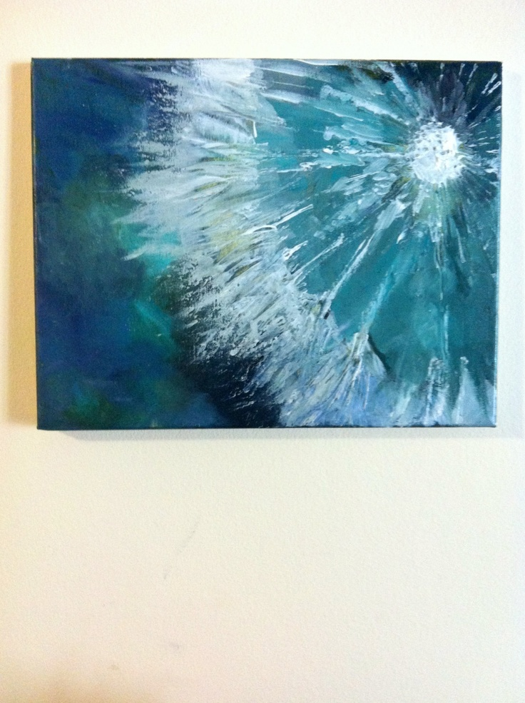 Abstract Dandelion Paintings