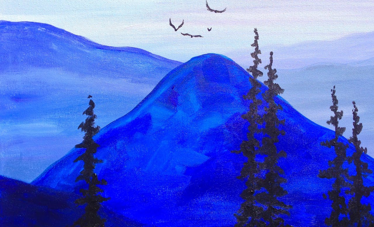 Easy Mountain Paintings