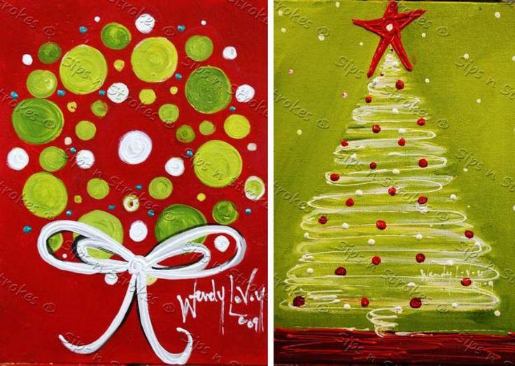 Easy Christmas Paintings