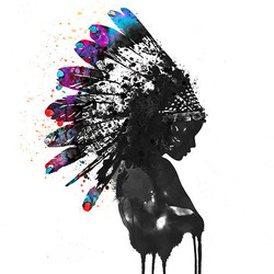 5170be73740 Indian Headdress Painting Water