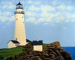 Famous Lighthouse Paintings Harbor Painting