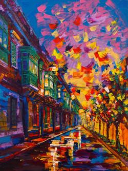 Pretty Paintings Tumblr City Sidewalks