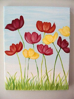 Canvas Painting Diy Spring Ideas Paintings