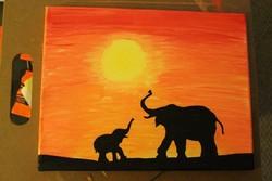 Painting Canvas Diy Elephant