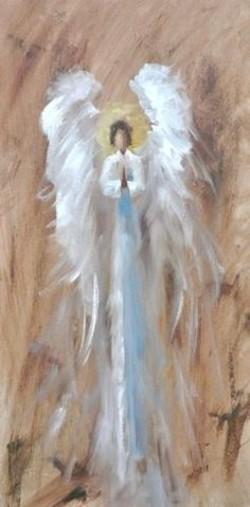 Faceless Angel paintings